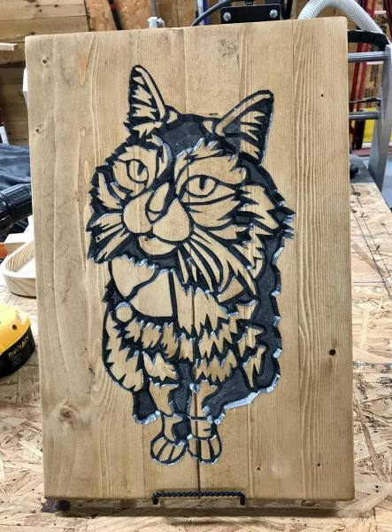 Silver Kitty Cat Sign