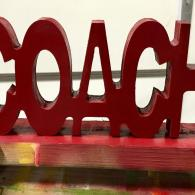 Block Coach Sign