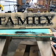 Large Family Sign 2019