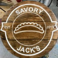 Savory Jack's Restaurant Sign