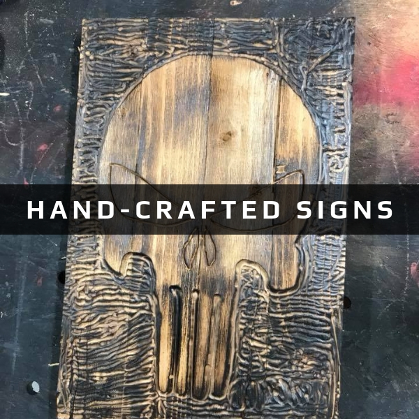 hand-crafted signs