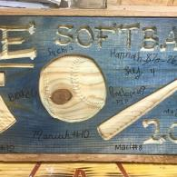 Softball Team Large Sign